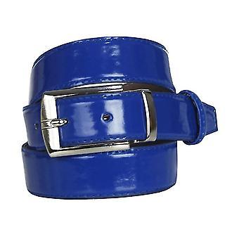 Boys Faux Leather Patent Blue Belt