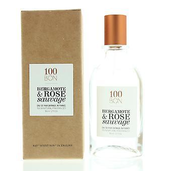 100Bon Bergamote & Rose Sauvage Eau de Parfum Spray 50ml Natural Ingredients