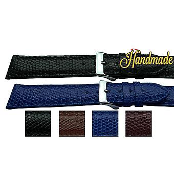 Genuine lizard watch strap made by w&cp for cartier 15mm, 17mm and 19mm stainless steel and gold buckles