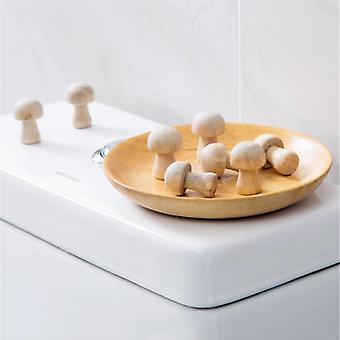 10pc/pack Mushroom Shaped Wardrobe Camphor Wood Mothballs - Mosquito Repellent Clothing