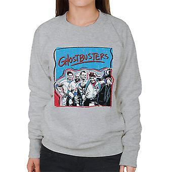 Ghostbusters Crew Drawn Portrait Women's Sweatshirt