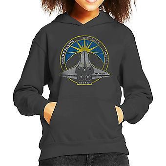 NASA STS 132 Atlantis misión insignia lamentando sudadera con capucha para niños
