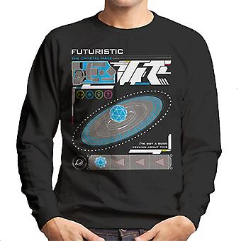 The Crystal Maze Futuristic Interface Men's Sweatshirt