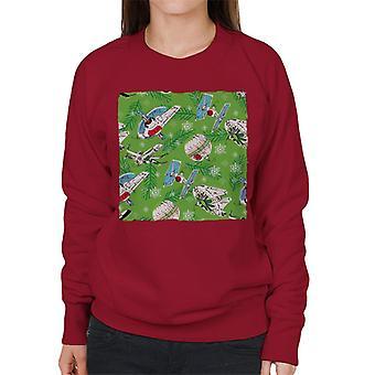 Star Wars Christmas Festive Ships Women's Sweatshirt