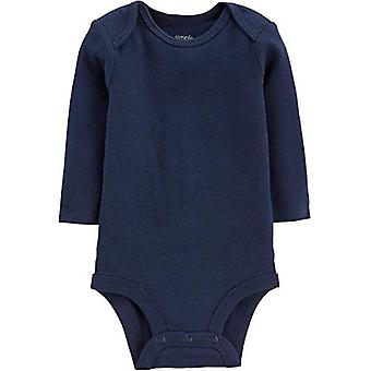 Simple Joys by Carter's Boys' 5-Pack Long-Sleeve Bodysuit, Solids, 3-6 Months