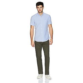 Goodthreads Men&s Slim-Fit Koszula z krótkim rękawem, koszula oxfordska z krótkim rękawem, niebieska, duży rozmiar