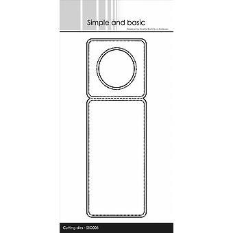 Simple and Basic Pierced Bottle Label Metal Die