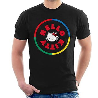 Hello Kitty Multicolored Circle Men''s T-Shirt