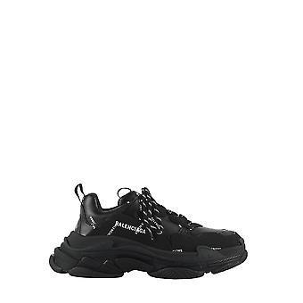 Balenciaga 536737w2fa19010 Herren's Schwarze Polyurethan Sneakers