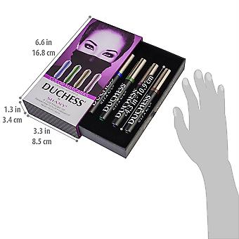DUCHESS by SHANY 4-Piece Water Proof Color Mascara Set - Lengthening and Hydrating Paraben-Free Mascaras in Blue, Green, Brown and Purple Shades