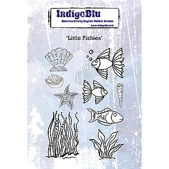 IndigoBlu Little Fishies A6 Tampons en caoutchouc