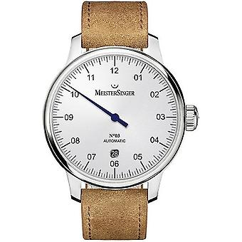 MeisterSinger Men's Watch No03 40 mm single-hand watch Automatic DM901_SV03