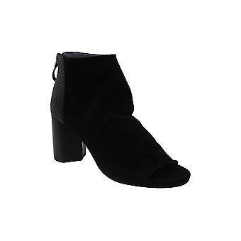 Seychelles Women's Shoes Black tie Leather Peep Toe Ankle Fashion Boots