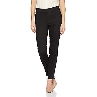 Calvin Klein Women's Cropped Pull On Pant, Black, S