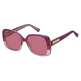 Marc Jacobs Marc 423/S S04/4S Glitter Violet-Burgundy/Burgundy Sunglasses