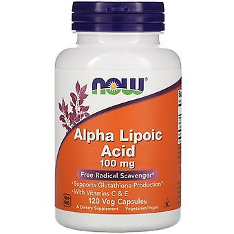 Now Foods, Alpha-Liponsäure, 100 mg, 120 Veg Kapseln