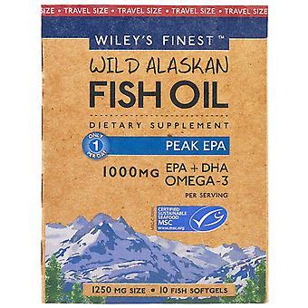 Wiley's Finest, Wiley's Finest, Wild Alaskan Fish Oil, Peak EPA, 1,250 mg, 10 Fi