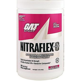 GAT, NITRAFLEX + Creatine, Suikerspin, 14,8 oz (420 g)
