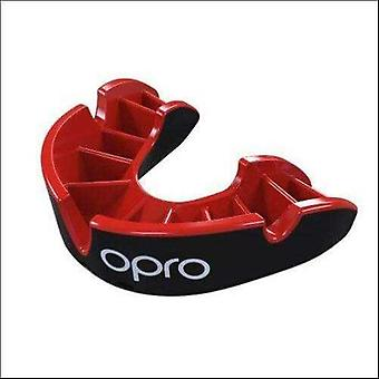 Opro silver gen 4 mouth guard black/red