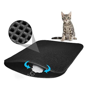 Waterproof Pet Cat Litter Mat Double-layer Litter Cat Pads Trapping Pet - Litter Box Mat For Cats House
