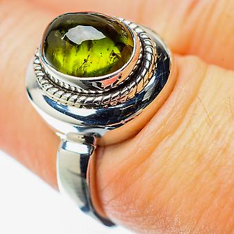Peridot Ring Size 7 (925 Sterling Silver)  - Handmade Boho Vintage Jewelry RING25521