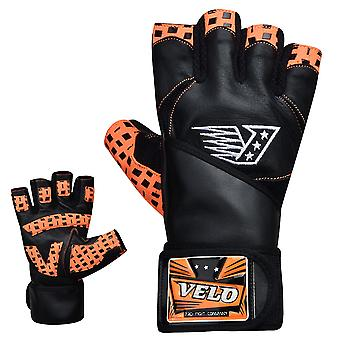 VELO O1 Leather Weight Lifting Gloves