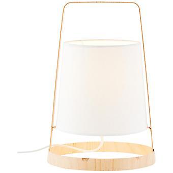 LUZ de mesa Otis BRILLANTE lámpara de mesa de madera coloreada/blanca, lámparas de mesa, -decorativas ? 1x D45, E14, 42W, adecuado para lámparas de caída