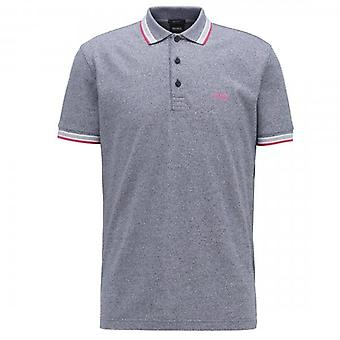 Boss Green Hugo Boss Paddy Pique Polo Grey Twist 50398302