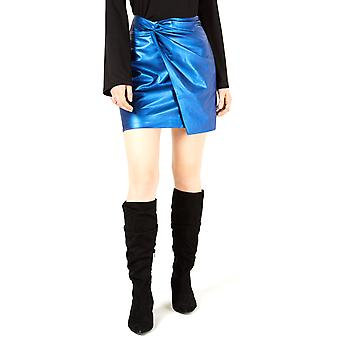 Bar III | Twisted Faux Leather Mini Skirt