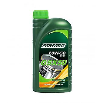 Fanfaro GSX 50 1L 20W50  Engine Oil Based On High-Quality Base Oils API SL/CF