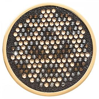 Nikki Lissoni Denim Dreams Spots Large Gold Plated Coin C1534GL