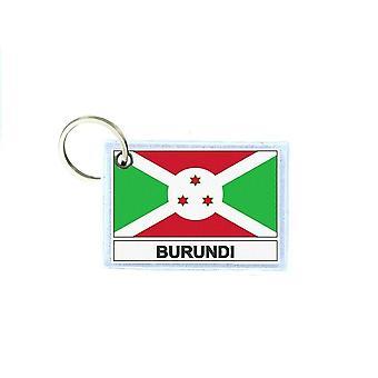 Porte cles cle clefs imprime double face drapeau RU burundi