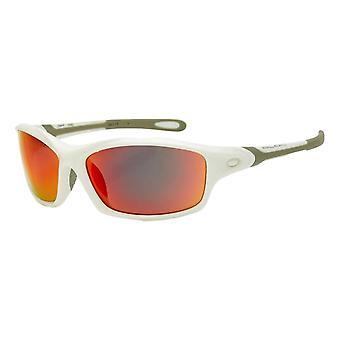 كتلة دايتونا XRW60 النظارات الشمسية - لامعة أبيض / أحمر مرآة