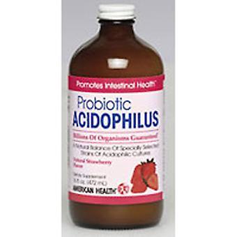 Amerikan terveys acidophilus kulttuuri, nestemäinen mansikka 16 Fl Oz
