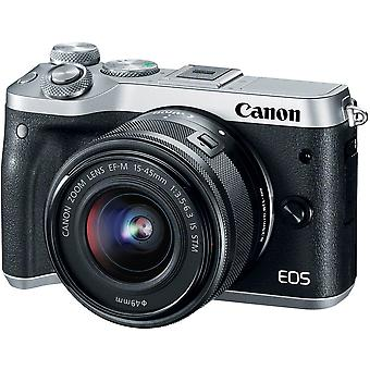 CANON EOS M6 Silver KIT EF-M 15-45mm F3.5-6.3 IS STM Black