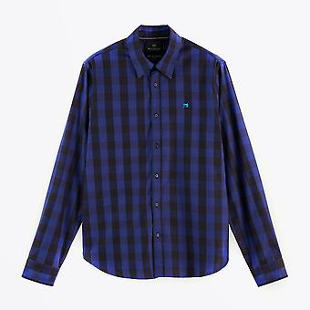Scotch & Soda  - Checked Shirt - Navy