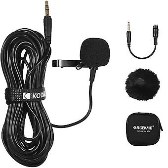 Lapel Clip-on Single Head Microphone With 3.5mm Connector For Dslr/camcorder