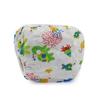 Leakproof Swimming Nappies- Printed Cloth Diaper For Newborn