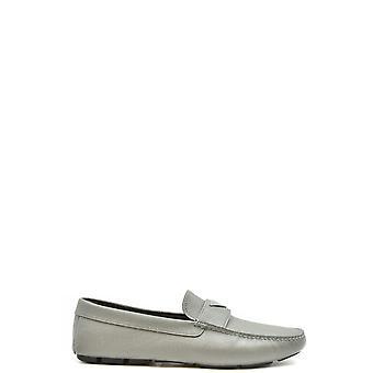 Prada Ezbc021048 Men's Grey Leather Loafers