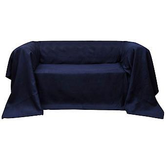 マイクロスエードソファカバー日ブランケットネイビーブルー210×280cm