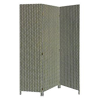 3 Panel Green Soft Fabric Finish Room Divider