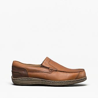 Hush Puppies Murphy Victoire Hommes Cuir Slip On Shoes Brown