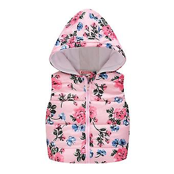 Sleeveless Hooded Wool Vest Warm Outwear Clothes - Cartoon Print Coat (set-1)