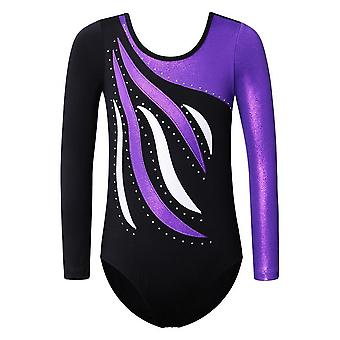 Girls Ballet Leotard Toddler Striped Long Sleeves/gymnastics Train Costumes