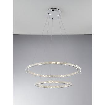 Fan Europe Luce_Ambiente_Design - Led intégrée 2 Tier Circular Crystal Pendentif Light, 4000K