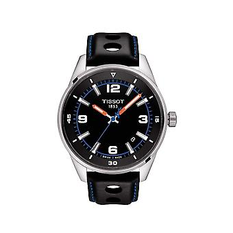 Tissot T1236101605700 Alpine on Board Black Leather and Silver Men's Watch