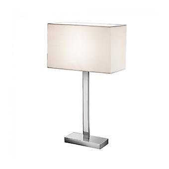 Chrom Tischlampe 1 Glühbirne Höhe 63 Cm