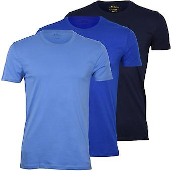 Polo Ralph Lauren 3-Pack Polo Player Crew-Neck T-Shirts, blaue Kombination