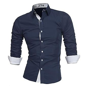 Men Shirt Male High-quality Long Sleeve Casual Slim Fit Shirts