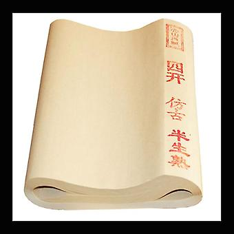 Chinese Archaize Color Rice Paper Chinese For Painting Calligraphy